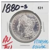 1880-S AU/BU 90% Silver Morgan $1 Dollar