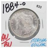 1884-O AU/BU 90% Silver Morgan $1 Dollar
