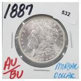 1887 AU/BU 90% Silver Morgan $1 Dollar