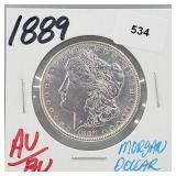 1889 AU/BU 90% Silver Morgan $1 Dollar