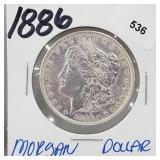 1886 90% Silver Morgan $1 Dollar