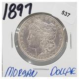 1897 90% Silver Morgan $1 Dollar
