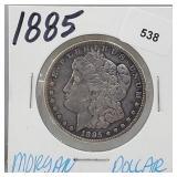 1885 90% Silver Morgan $1 Dollar