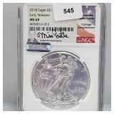 NGC 2018 MS69 Early Release $1 Silver Eagle