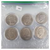 Six Ike $1 Dollars (3-1971, 3-1972)