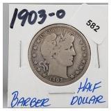 1903-O 90% Silver Barber Half $1 Dollar