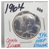 1964 90% Silver JFK Half $1 Dollar