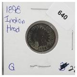 1898 Indian Head Penny One Cent