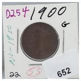 1900 Indian Head Penny One Cent