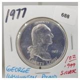 1977 1oz .999 Silver Wash Round