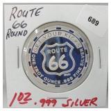 1oz .999 Silver Route 66 Round