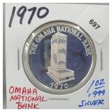 1970 1oz .999 Silver Omaha Nat