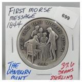 Danbury Mint First Morse Message Round