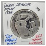 Danbury Mint Dupont Develops Nylon Round