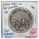 Danbury Mint Fort Sumter Round