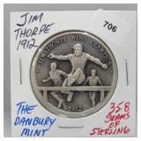 Danbury Mint Jim Thorpe Olympics Round