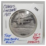 Danbury Mint Linberg Flies Atlantic Round