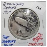 Danbury Mint Hindenburg Crash Round