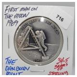 Danbury Mint First Man on Moon Round