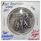 Danbury Mint First Basketball Game Round