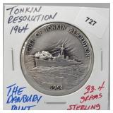Danbury Mint Tonkin Resolution Round