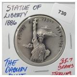 Danbury Mint Statue of Liberty Round