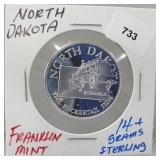 Franklin Mint North Dakota Round
