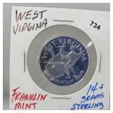 Franklin Mint W. Virginia Round