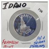 Franklin Mint Idaho Round
