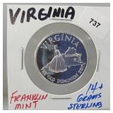 Franklin Mint Virginia Round