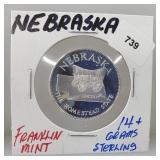 Franklin Mint Nebraska Round