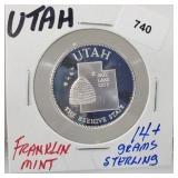 Franklin Mint Utah Round