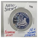 Franklin Mint New Jersey Round
