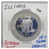 Franklin Mint Illinois Round