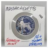 Franklin Mint Massachusetts Round