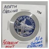 Franklin Mint N. Carolina Round