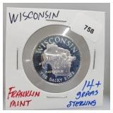 Franklin Mint Wisconsin Round