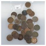 Lot of Mixed Date Indian Head Pennies