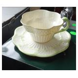 belleek Cup and Saucer
