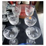 6 Hawkes Crystal Glasses