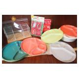 Plastic Plates, Pencil Holder, JELLO Cutters
