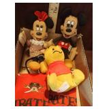 Mickey, Minnie & Pooh Dolls