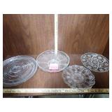 Clear Glass Serving Platters