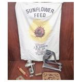 Sunflower Feed Sack, Childs Rolling Pin, & more