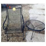 Metal Chair & Round Table