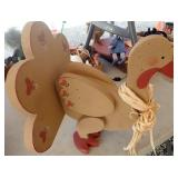 Wood Turkey Decoration