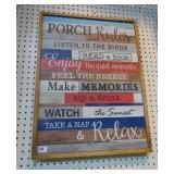 Porch Rules - Wood