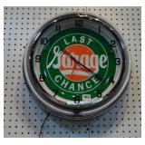 Neonled Garage Last Chance Clock