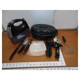 Roaster, Hand Mixer & Utensils