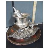 Silver Plated Candle Holder & More